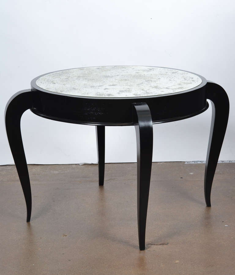 French Art Deco Pair Of Mirror Top Coffee Tables At 1stdibs