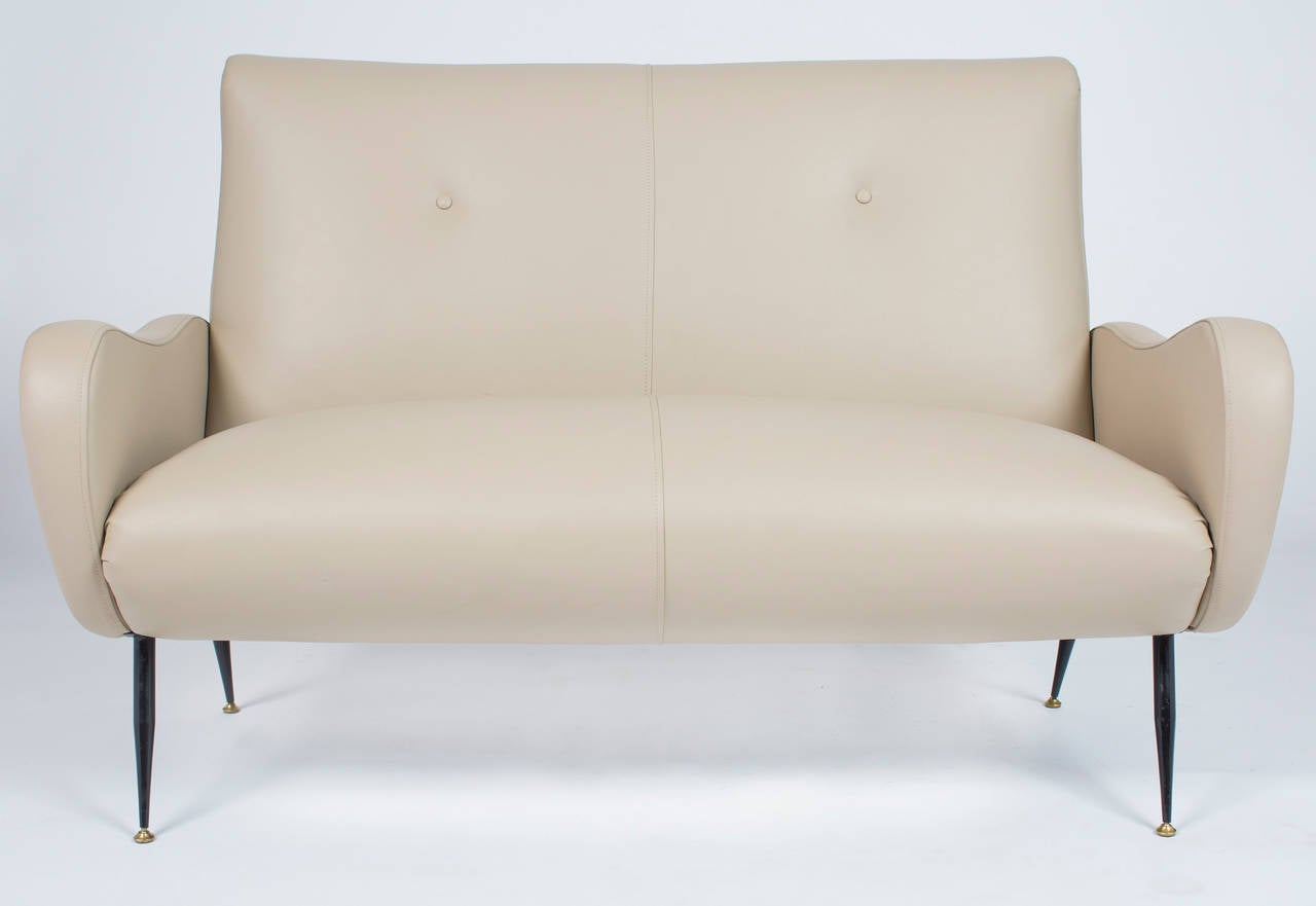 Vintage Italian Leather Sofa At 1stdibs