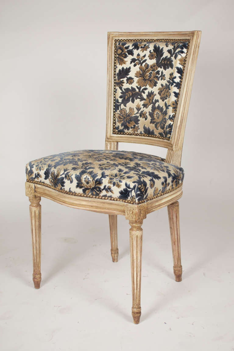 Set Of 6 Louis XVI Dining Chairs At 1stdibs