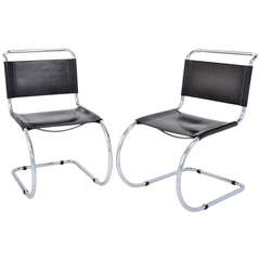 Pair of MR Cantilever Chairs by Mies Van Der Rohe, 1967