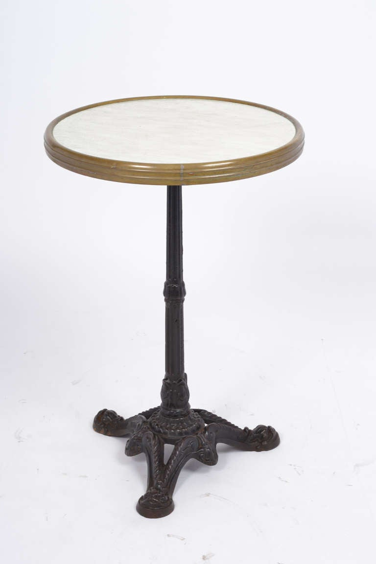French Antique Cast Iron Bistro Table At 1stdibs