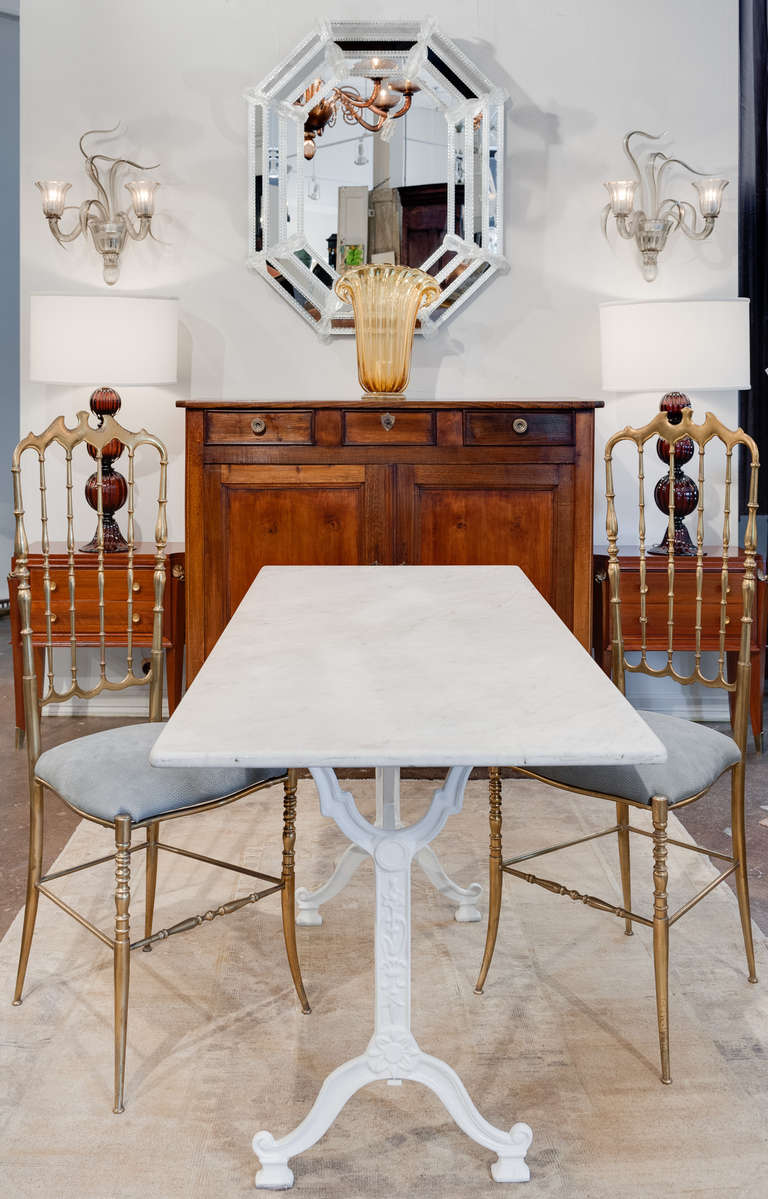 Carrara Marble Top Bistro Table At 1stdibs