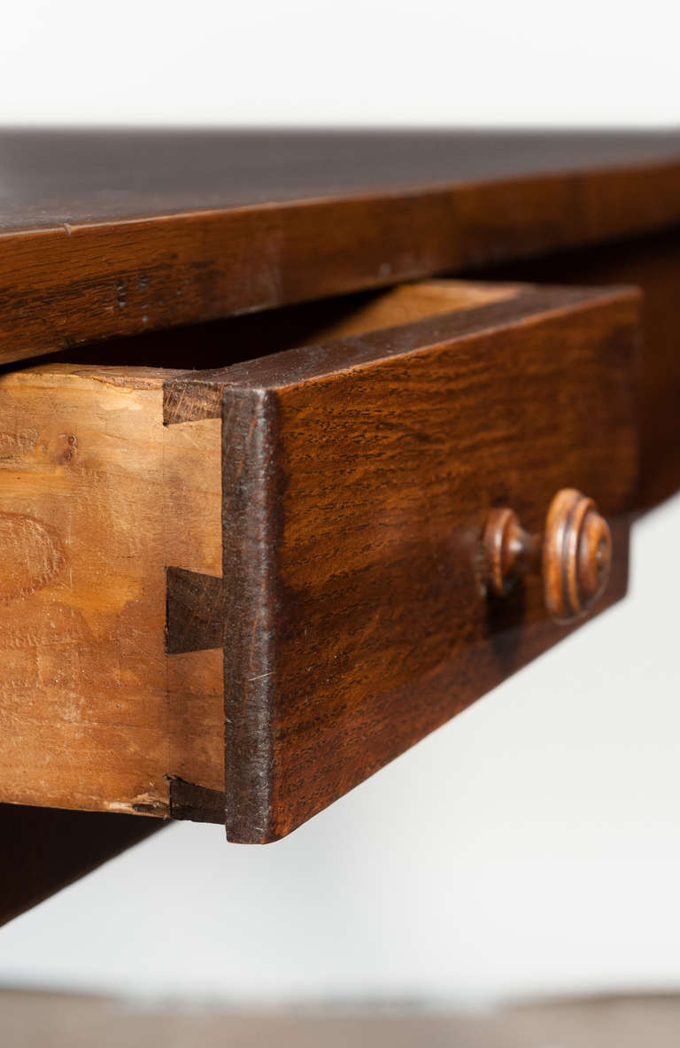 This antique french cherry side table is no longer available - French Antique Solid Oak Farm Table At 1stdibs