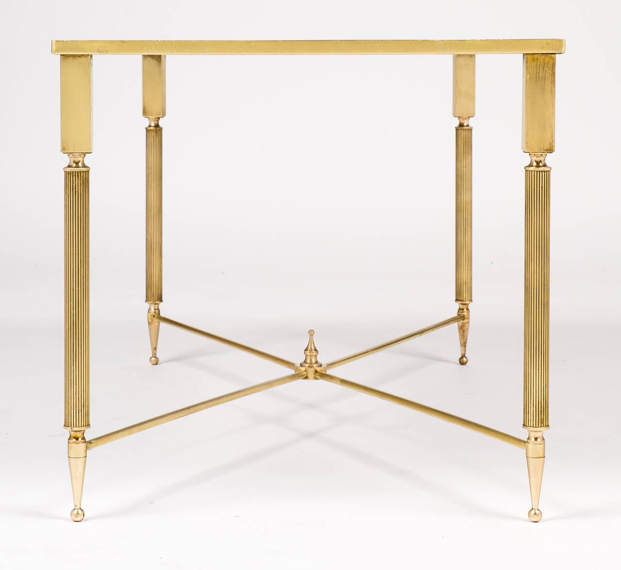 Art Deco Period Brass Coffee Table At 1stdibs