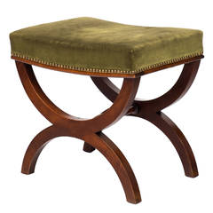 19th Century French Restauration Curule Stool