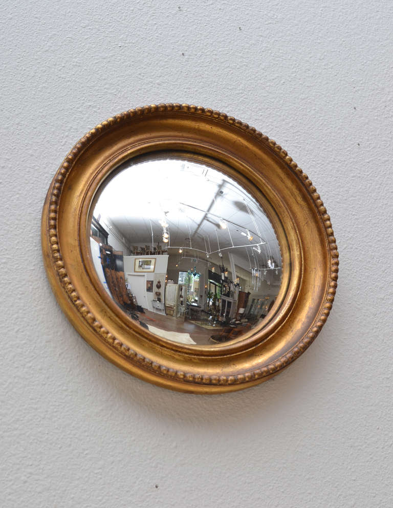 19th Century French Gold Leaf Convex Mirror At 1stdibs