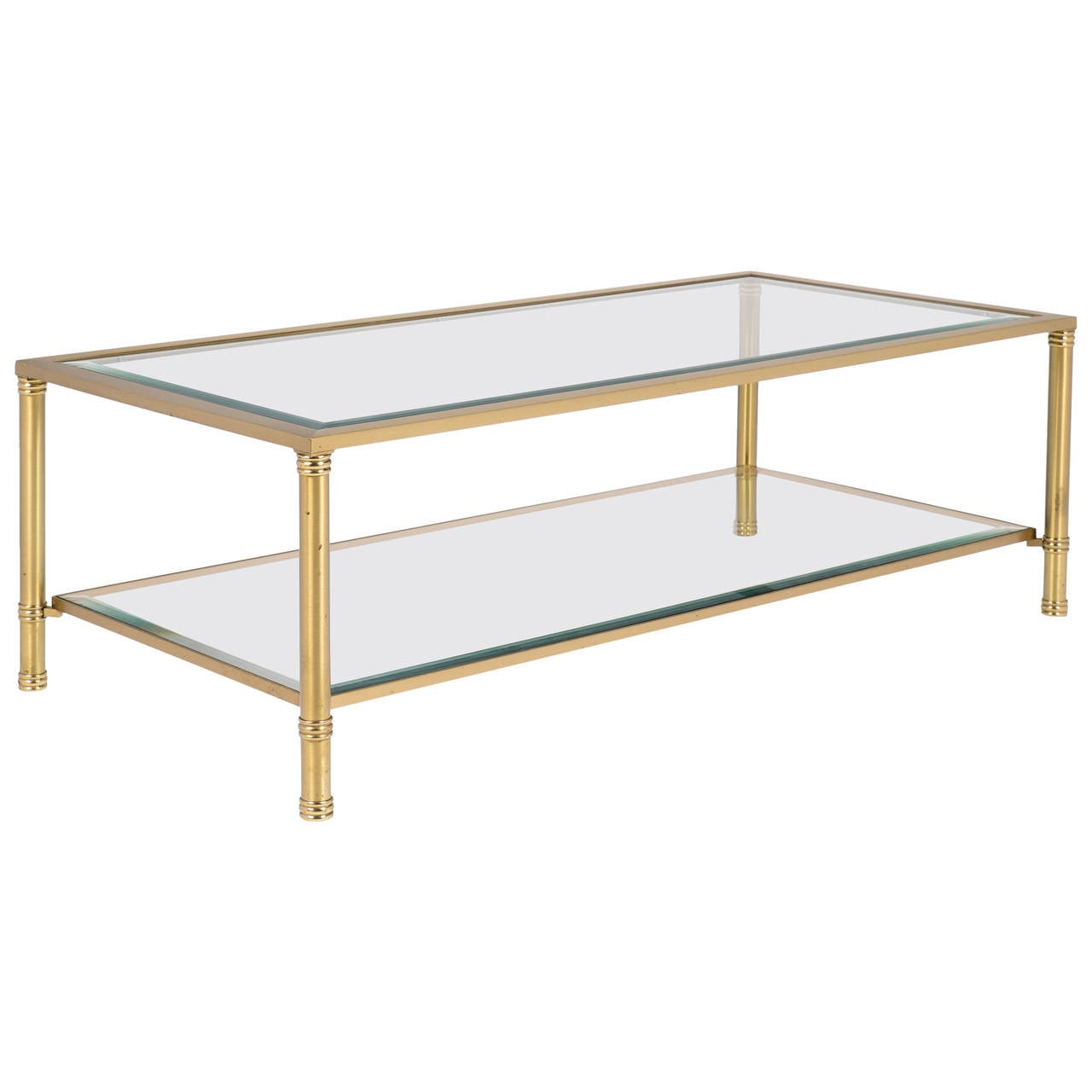 French vintage brass coffee table for sale at 1stdibs for Vintage coffee table