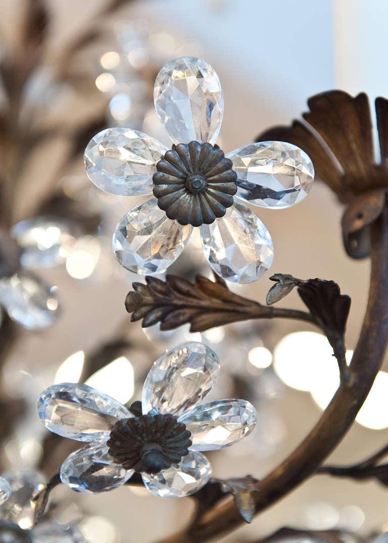 Genovese Crystal Flowers Chandelier At 1stdibs