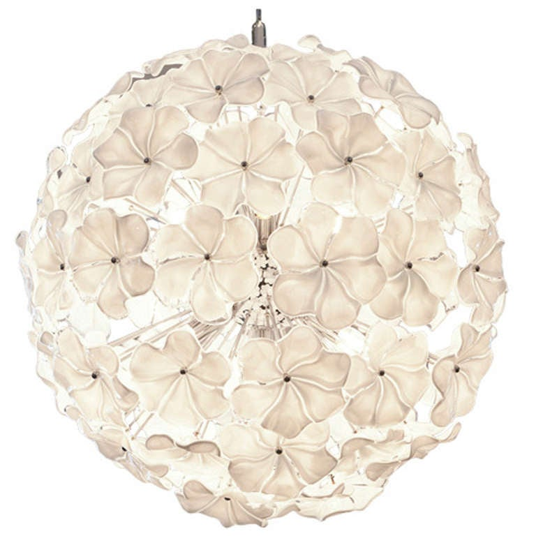 Murano Glass Flower Chandelier by Cenedese 1