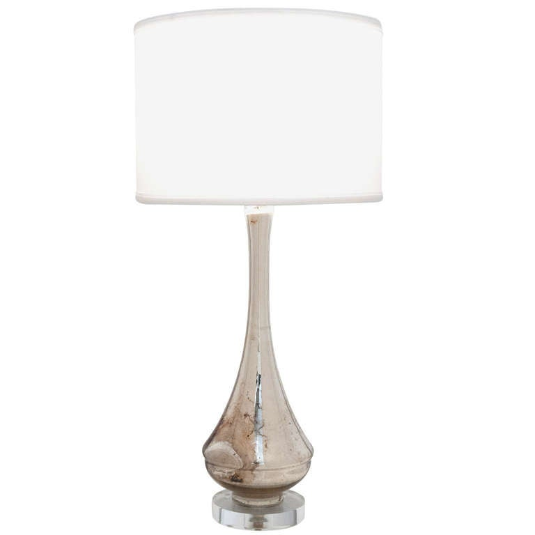 murano mercury glass table lamp at 1stdibs. Black Bedroom Furniture Sets. Home Design Ideas