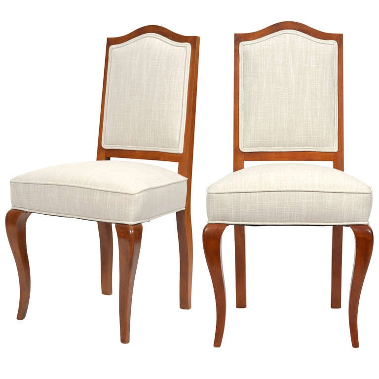 French Side Chairs By Maison Jansen For Sale
