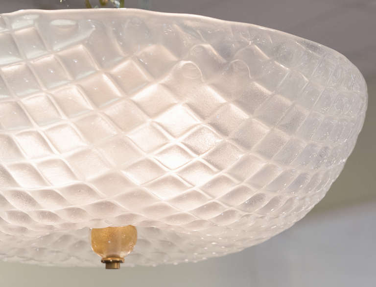 murano frosted glass ceiling fixture for sale at 1stdibs. Black Bedroom Furniture Sets. Home Design Ideas