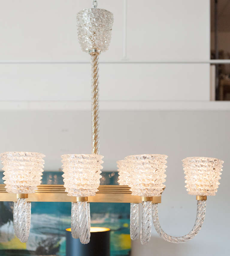 Dazzling murano glass fourteen branch chandelier by barovier for sale at 1stdibs - Chandelier a 5 branches ...