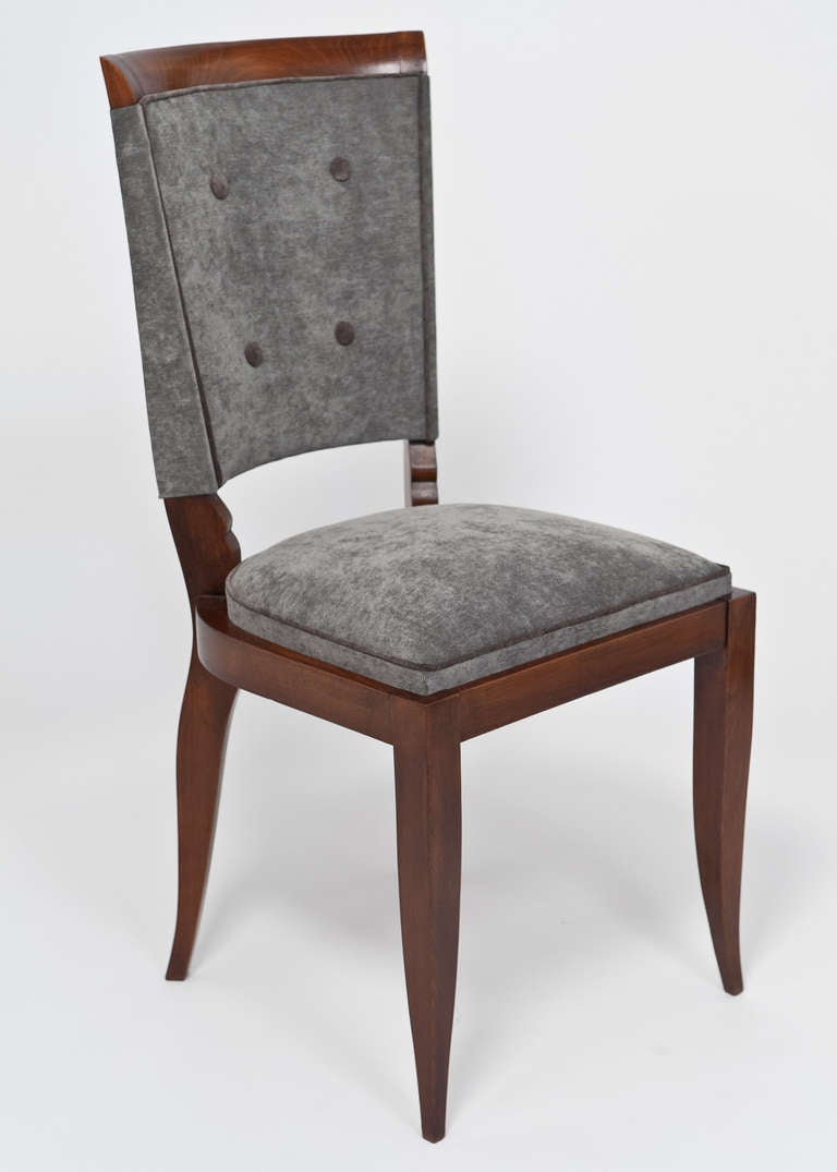 French Art Deco Set Of 6 Dining Chairs At 1stdibs