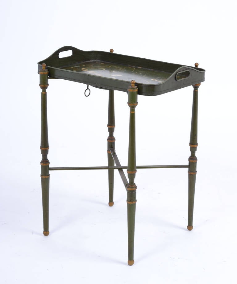 Vintage painted brass tray table at 1stdibs - Archives departementales 33 tables decennales ...