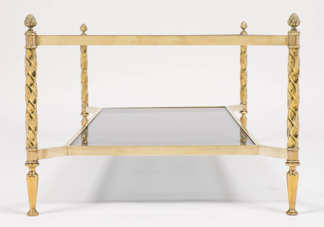 vintage gilt brass coffee table by valenti for sale at 1stdibs