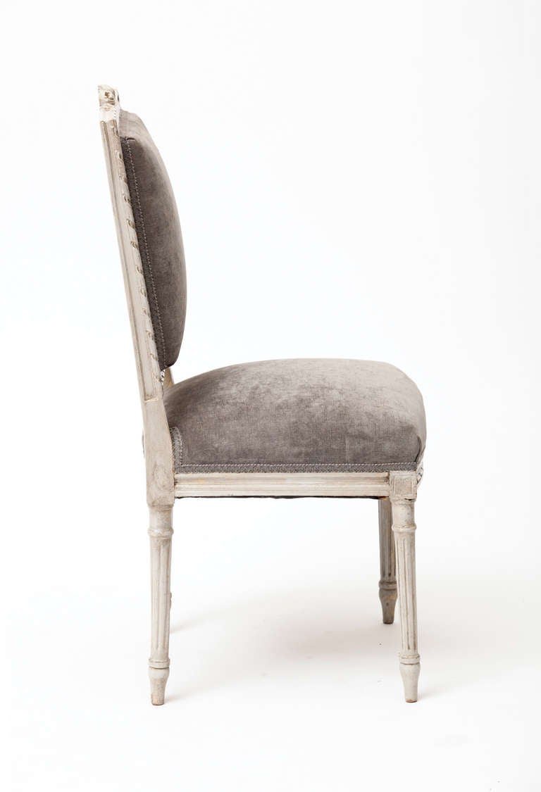 Delicate Louis XVI Style Side Chair at 1stdibs