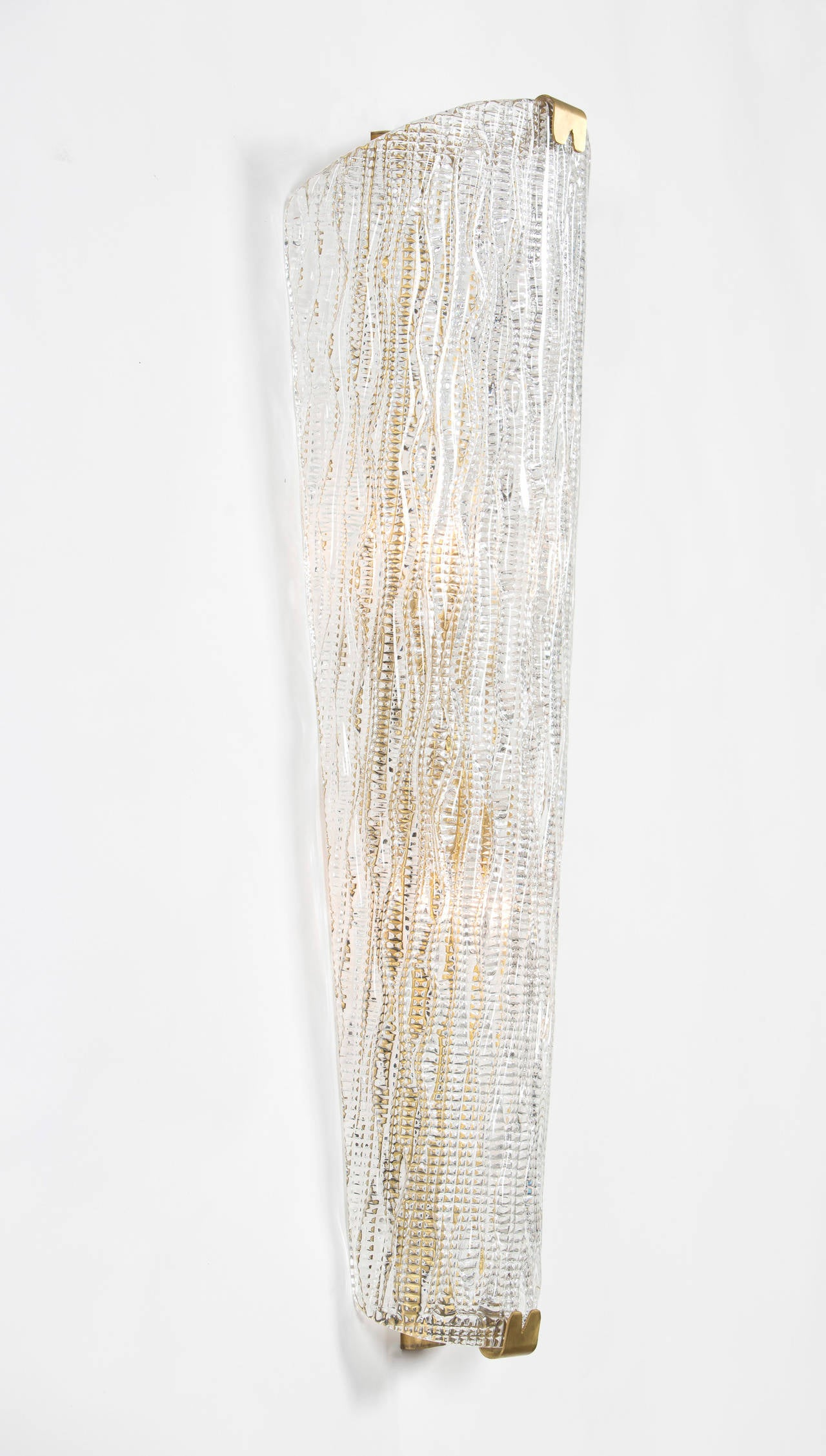 Wall Sconces With Glass : Murano Glass Wall Sconces by Barovier For Sale at 1stdibs