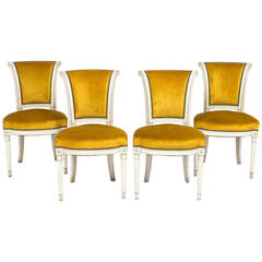 French Directoire Set of Four Side Chairs