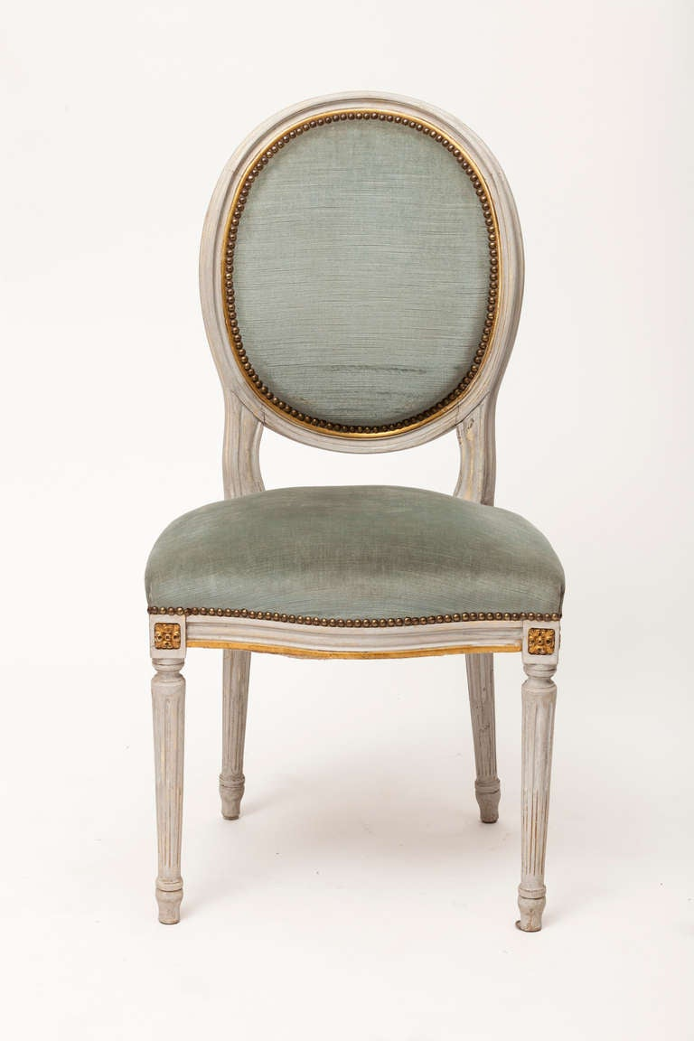 Louis XVI Set of Medallion Chairs at 1stdibs