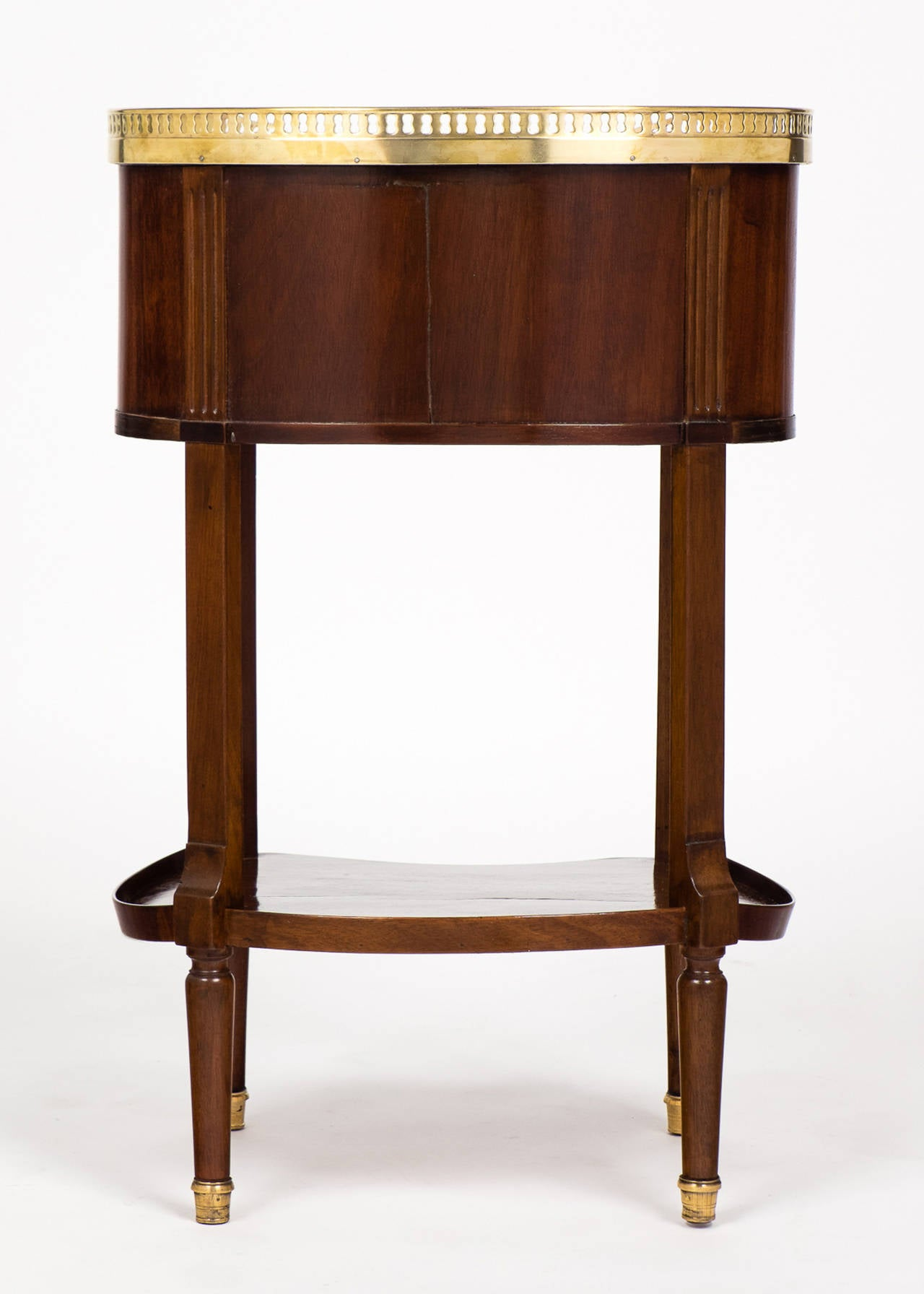 Louis XVI Marble-Top Mahogany Side Table For Sale 4