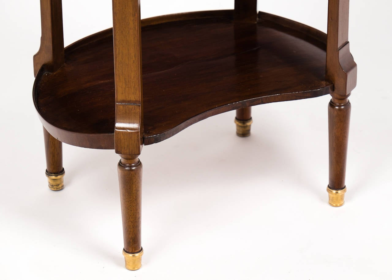 Louis XVI Marble-Top Mahogany Side Table For Sale 2