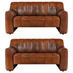 De Sede Pair of Leather Sofas DS 44 from Switzerland