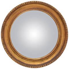 19th Century French Gold Leaf Convex Mirror
