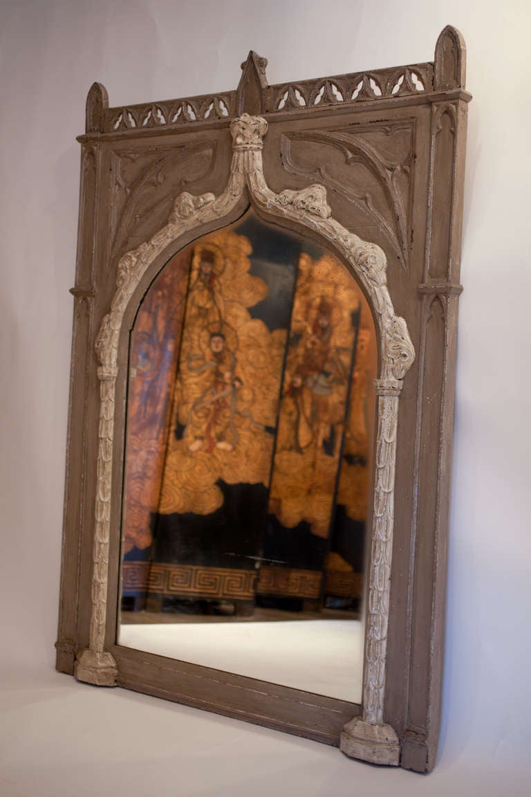 French Gothic Trumeau Mirror At 1stdibs