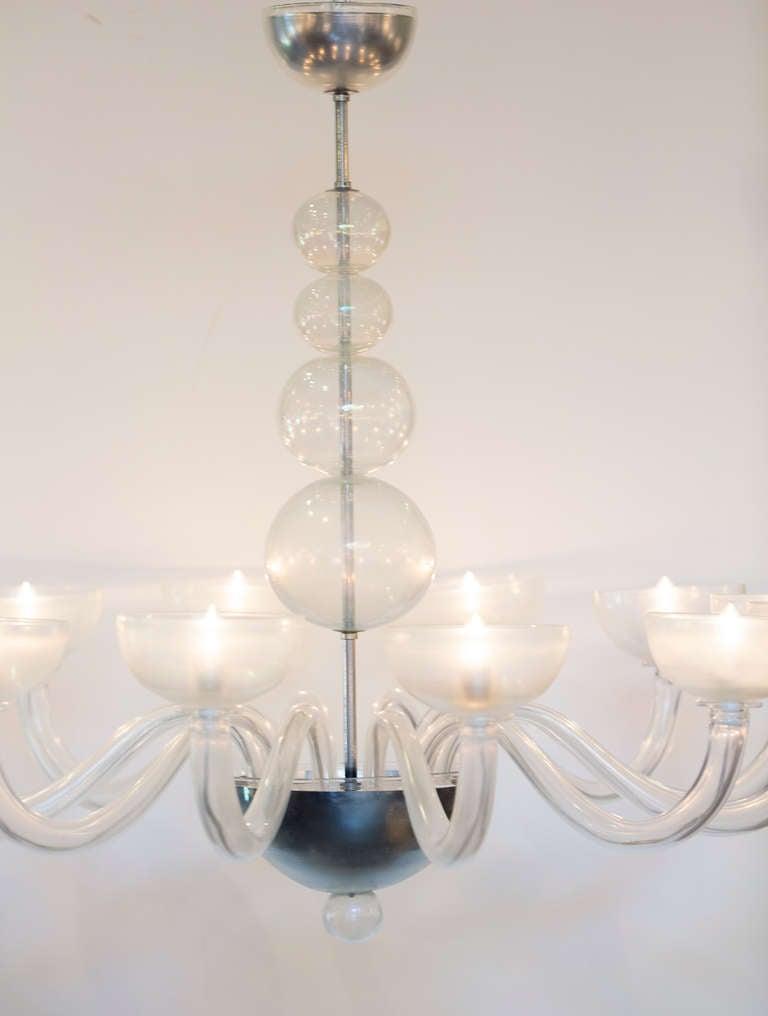Midcentury murano glass chandelier for sale at 1stdibs - Murano glass lighting ...