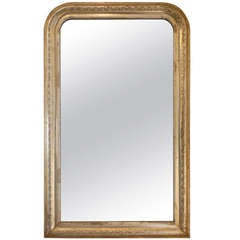 French Antique Louis Philippe Gold Leaf Mirror