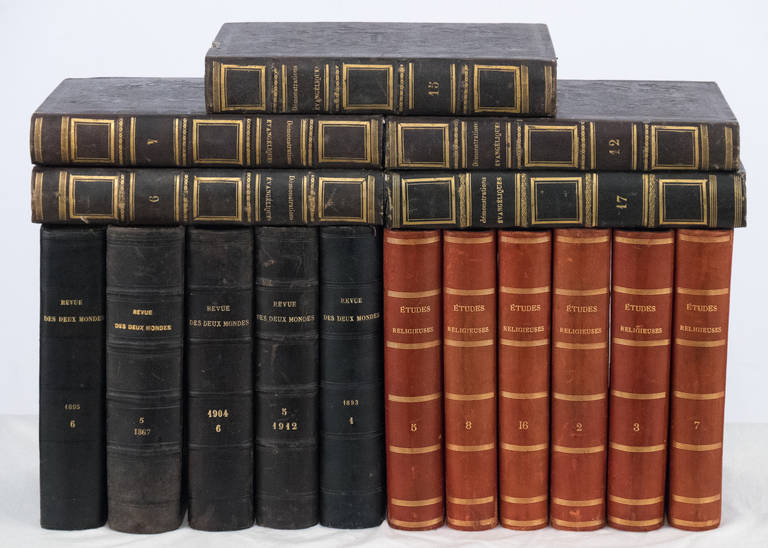 Napoleon III French Antique Leather Bound  Books For Sale