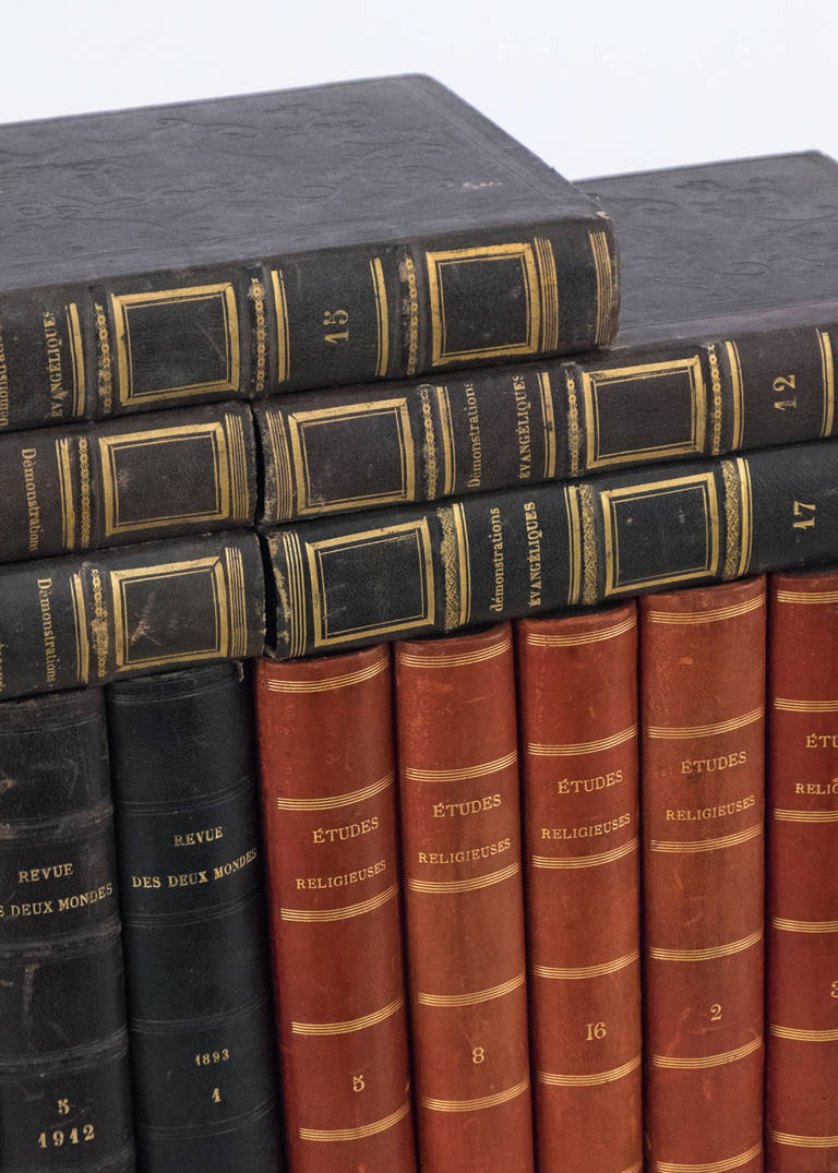 French Antique Leather Bound  Books For Sale 1