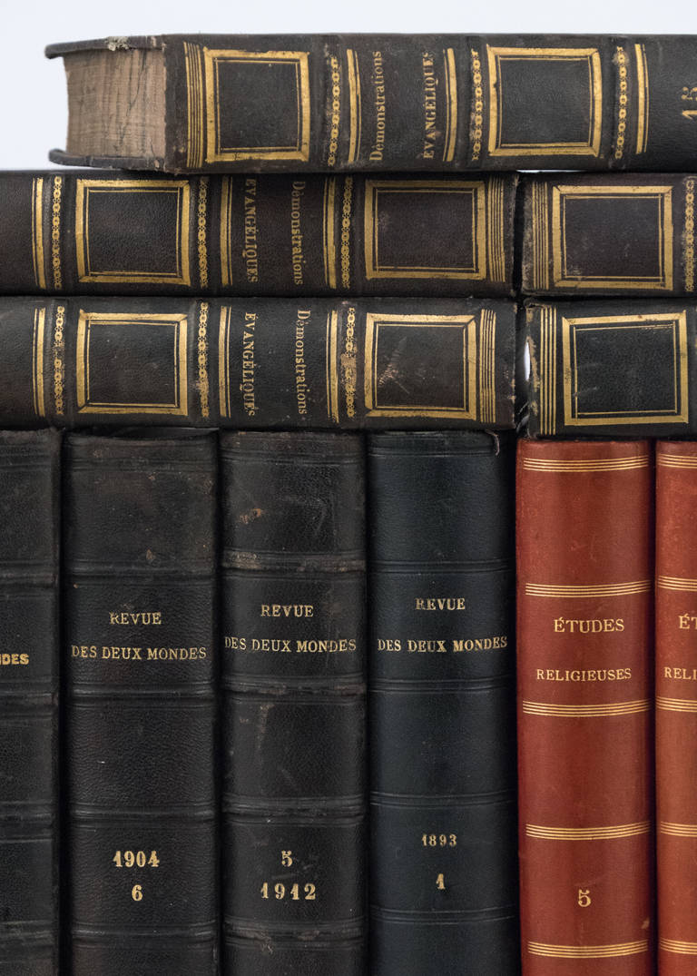 French Antique Leather Bound  Books For Sale 2
