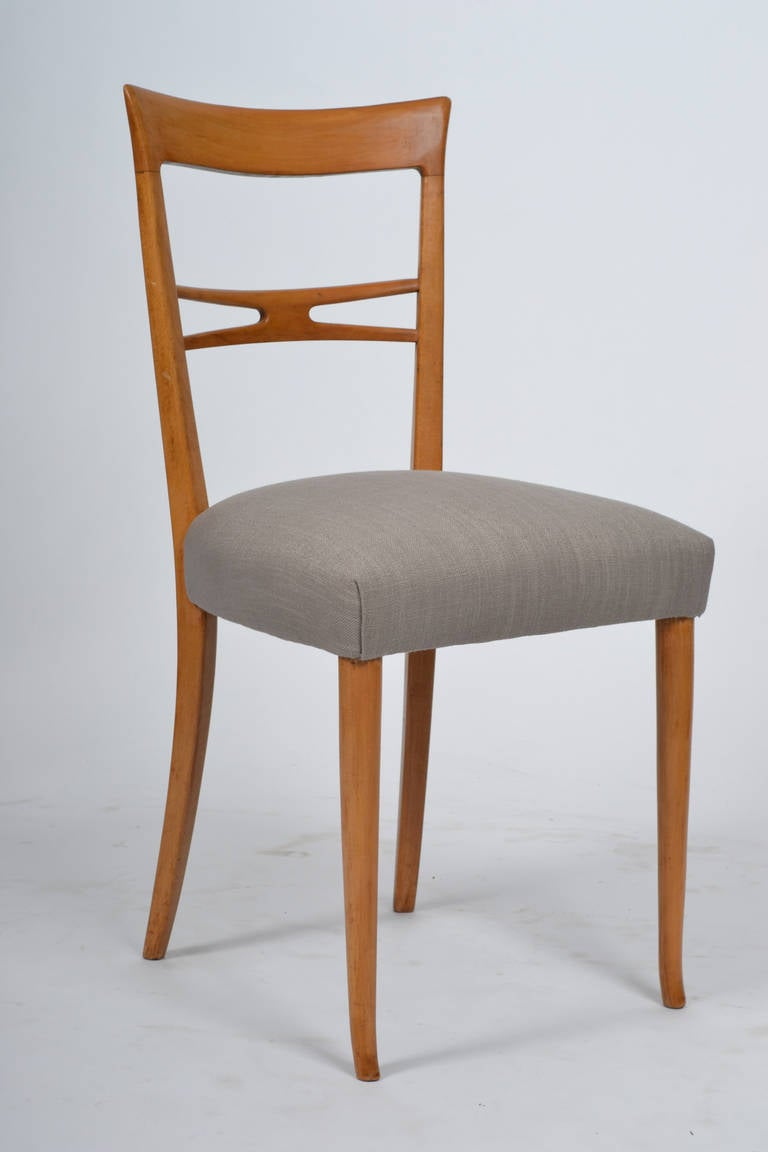 Vintage Italian Set of Six Dining Chairs at 1stdibs
