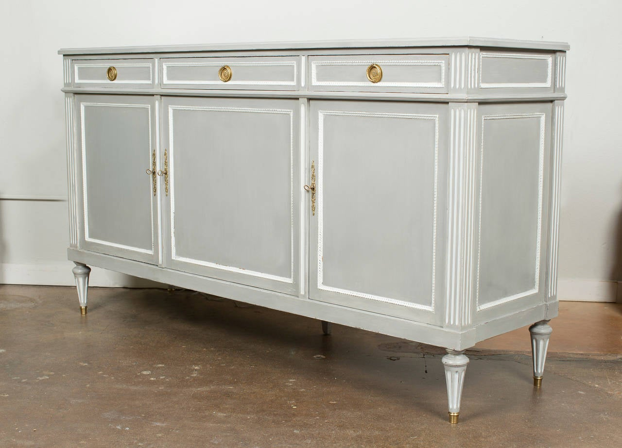 french louis xvi style sideboard at 1stdibs. Black Bedroom Furniture Sets. Home Design Ideas