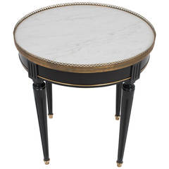 French Louis XVI Marble-Top Side Table