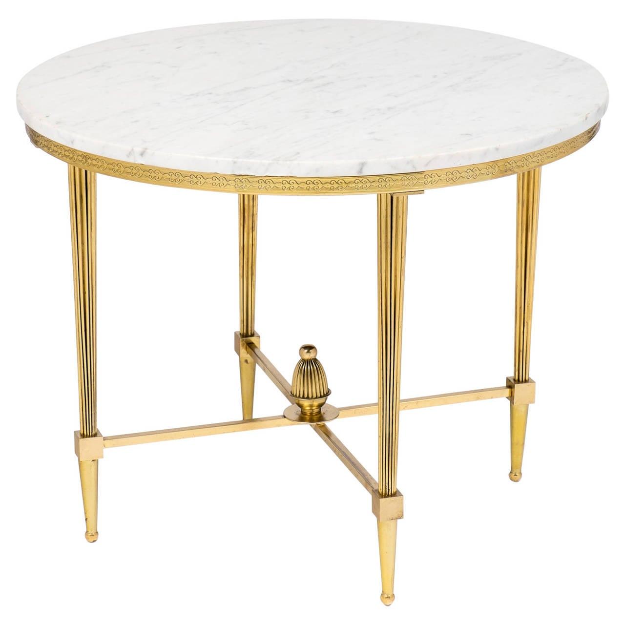 french vintage gilt brass side table at 1stdibs. Black Bedroom Furniture Sets. Home Design Ideas