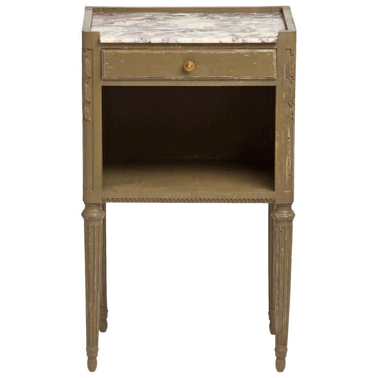 Louis Xvi Antique Marble Top Nightstand At 1stdibs