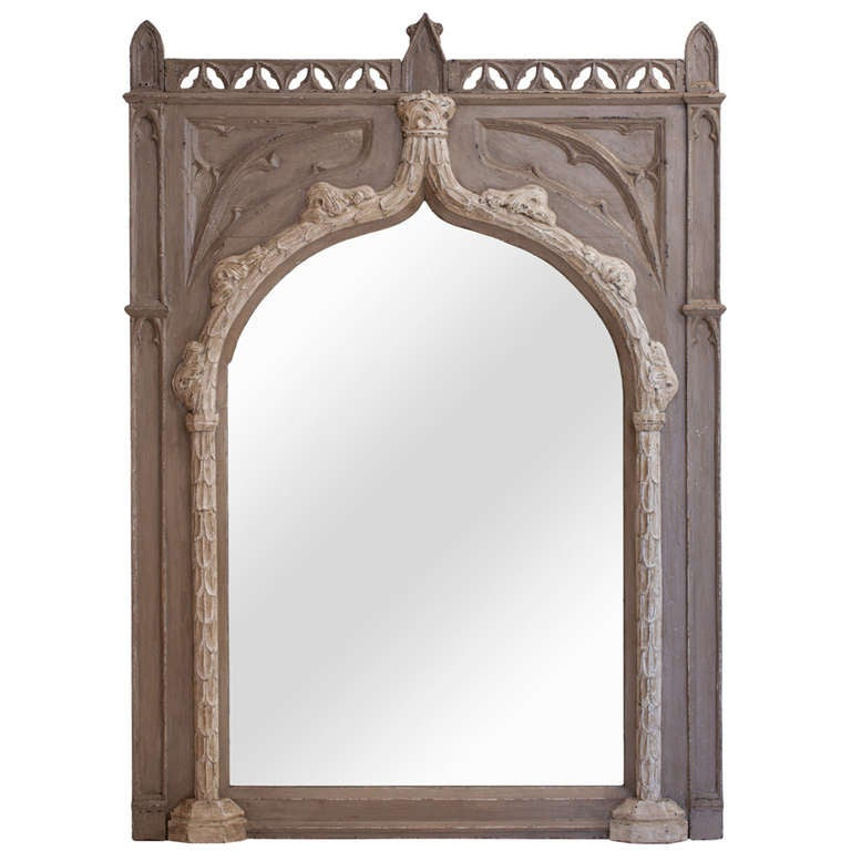 french gothic trumeau mirror at 1stdibs. Black Bedroom Furniture Sets. Home Design Ideas