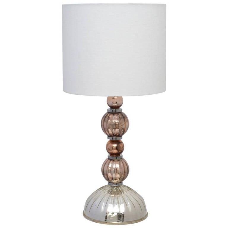 murano vintage mercury glass table lamp at 1stdibs. Black Bedroom Furniture Sets. Home Design Ideas