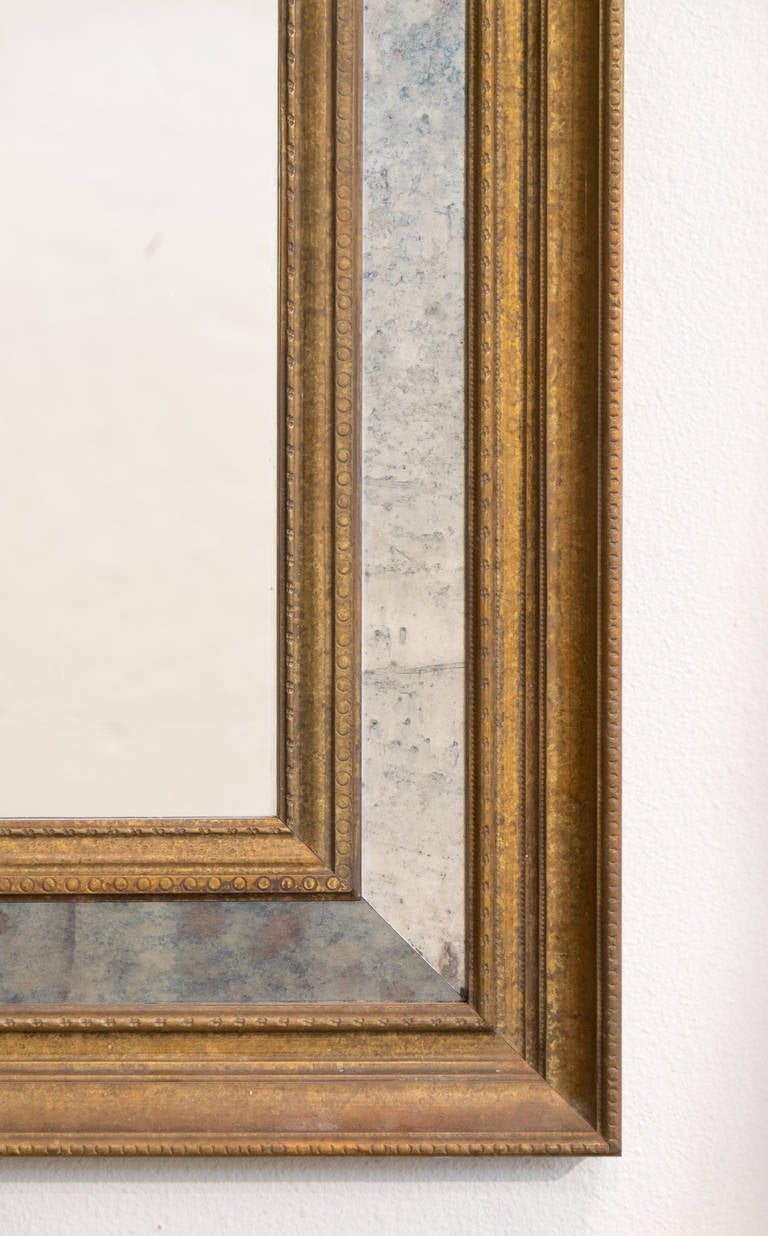 French Vintage Brass Framed Mirror At 1stdibs
