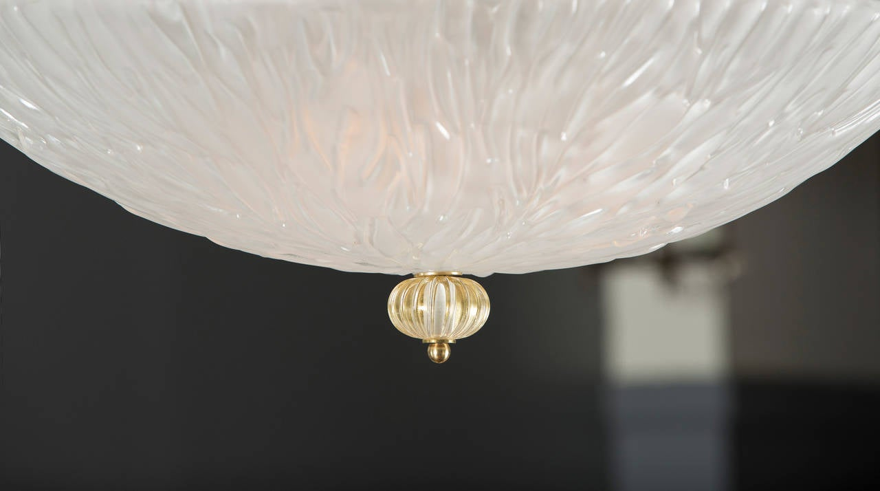 murano stampato glass ceiling fixture at 1stdibs. Black Bedroom Furniture Sets. Home Design Ideas