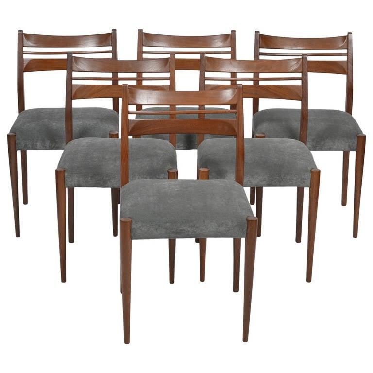 scandinavian modern set of six dining chairs at 1stdibs
