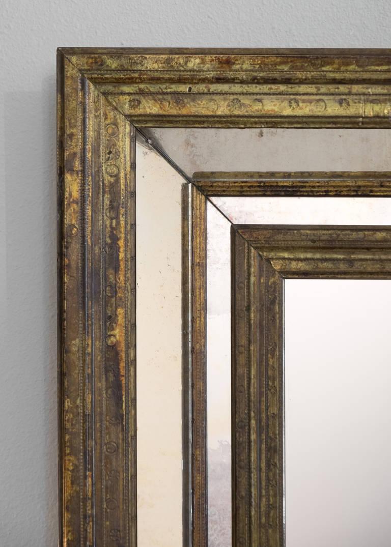 French Vintage Brass Framed Mirror At 1stdibs