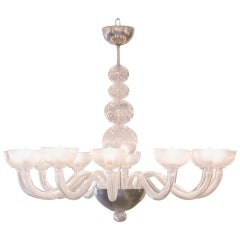 Midcentury Murano Glass Chandelier