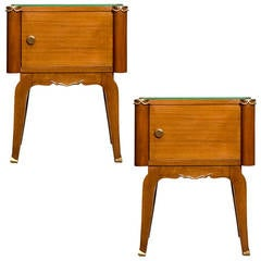 French Art Deco Pair of Side Tables