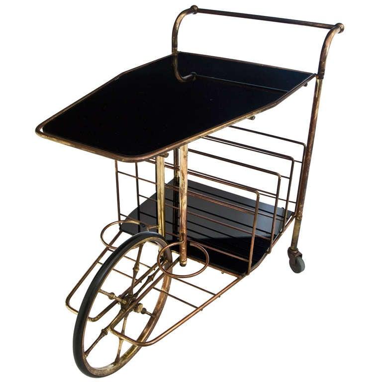 French Art Deco Bar Cart At 1stdibs