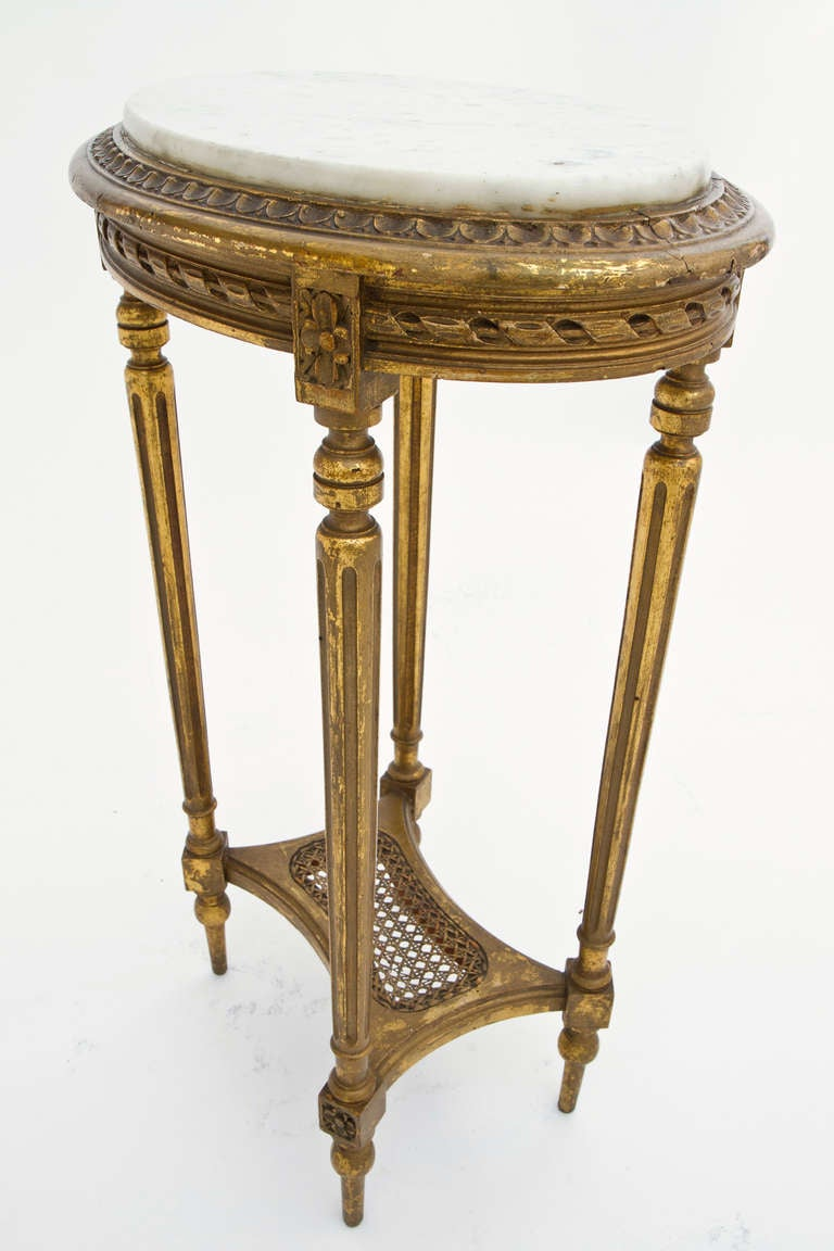 french louis xvi marble top side table at 1stdibs. Black Bedroom Furniture Sets. Home Design Ideas