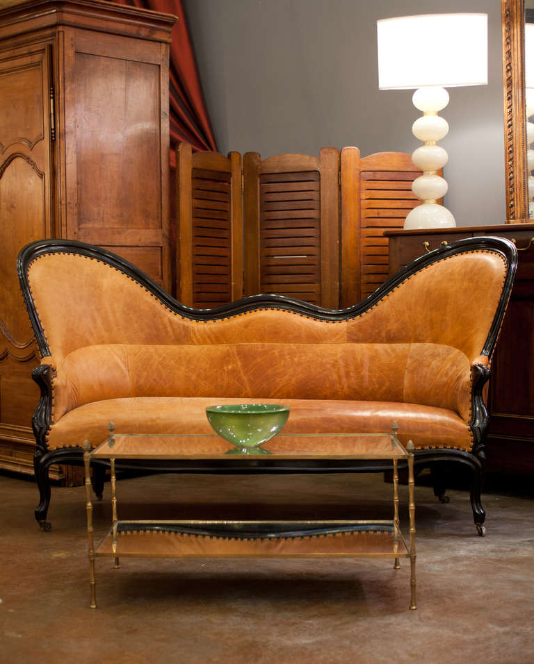 louis philippe leather canap 233 at 1stdibs